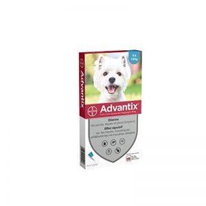Advantix Petit chien 4 à 10 kg- 4 pipettes antiparasitaires 1 ml de la marque Bayer image 0 produit