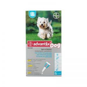 Advantix Petit Chien - 4 à 10 kg - 6 pipettes de la marque Advantix image 0 produit