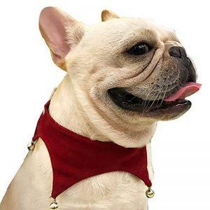 AiSi Agréable Collier Réglable Chien Chiot Chat Chaton Pet avec Clochette Décoration Chien Rouge Taille M de la marque AiSi image 0 produit