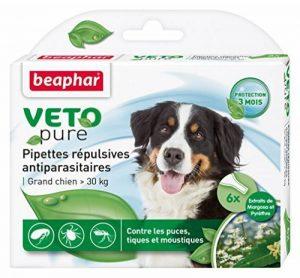 Beaphar - VETOpure, pipettes répulsives antiparasitaires - grand chien (30 kg image 0 produit
