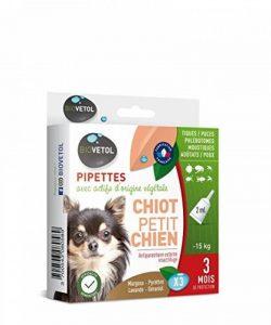 Biovetol - Pipettes Anti-puce pour chiot et petit chien -15Kg - X3 de la marque Biovetol image 0 produit