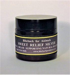 Biteback Sweet Relief Silver Crème pour la guérison des escarres démangeaisons chez les animaux de compagnie et les chevaux de la marque Biteback Products image 0 produit