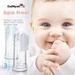 CalMyotis® Bébé brosse à dents brosse à dents doigt incl. Stockage - pour le brossage des dents et massage des gencives (3 pièces) de la marque CalMyotis image 2 produit