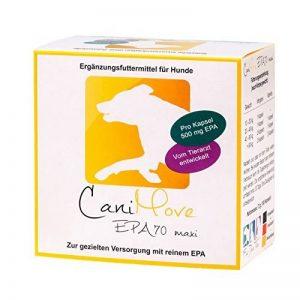canimove EPA 70Maxi–hochk onzentrierte Acide eicosapentaen (EPA, 70%) pour complémentaires Doublure les problèmes d'articulations intestinale, Chroniques, Peau, tendons, muscles, foie, estomac ou pancréas. de la marque CaniMove image 0 produit
