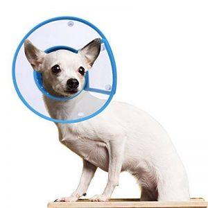 Collerette de Protection Cône, PETBABA Rembourré Elisabéthain Collier pour Chiot Chat Bleu M de la marque PETBABA image 0 produit