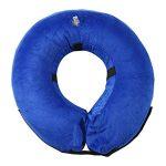 Collier Chien Gonflable, Confortable Collerette de Protection pour Chien Chats, Ajustable, Lavable, Bleu Foncé L de la marque Aolvo image 1 produit