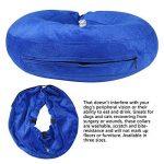 Collier Chien Gonflable, Confortable Collerette de Protection pour Chien Chats, Ajustable, Lavable, Bleu Foncé L de la marque Aolvo image 4 produit