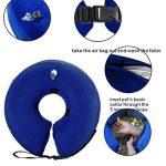 Collier gonflable de protection en cône pour chiens et chats - Doux - Pour la convalescence après une chirurgie - Empêche les animaux domestiques de toucher les points de suture (S) de la marque MicroPowerTech image 1 produit