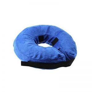 Collier Gonflable de Récupération, KOBWA Confortable Collerette de Protection pour Chien Chats, Ajustable, Lavable, Bleu (S) de la marque KOBWA image 0 produit