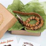 Collier réglable entièrement naturel contre les puces et tiques Fabriqué à la main en ambre de la Baltique brut et cuir Marron clair Pour chiens et chats de la marque Amber Neck image 5 produit