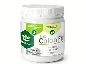 COLONFIT 180 Capsules pour Syndrome de COLON IRRITABLE, Ballonnement, Gaz dans l'Intestine e Douleur de Ventre. Avec Probiotique Lactobacillus Acidophilus e Bifidum, Prebiotique Inulin e Fibre Psyllium Husk de la marque ColonFit image 0 produit