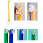 Dentifrice pour chien, brosse à dents, brosses à doigts, dentifrice pour chiens et chats, plaque et tartare Kit de soins dentaires pour animaux de compagnie - saveur de boeuf de la marque CIDBEST image 3 produit