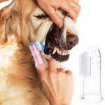Euhuton 10pcs pour animal domestique doigt Brosse à dents en silicone souple dent dents propres Soin des dents de nettoyage pour chiens chats de la marque euhuton image 6 produit