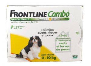 Frontline Combo chien 2/10 kg boite de 3 pipettes anti-puces et tiques de la marque MERIAL image 0 produit