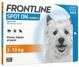 Frontline Spot-on Chien - Anti-puces et anti-tiques pour chien - 2-10kg - 4 pipettes de la marque Frontline image 0 produit