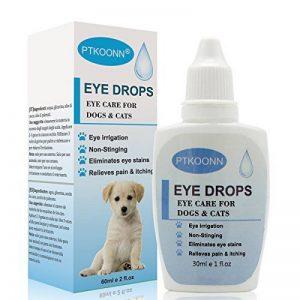 Gouttes pour les yeux pour chien,Gouttes Oculaires,Nettoyant pour Yeux pour Chien,soin des yeux - chien et chat Nettoyant yeux chiot,30ml de la marque PTKOONN image 0 produit