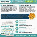 Iron Ore Health - Huile de poisson - 180 capsules de 2000 mg - 660 EPA + 440 DHA par prise de la marque Iron Ore Health image 2 produit