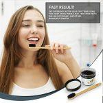 [Meilleur blanchiment des dents canadien] par [Lavish Essentials] | [Blanchiment des dents au charbon de bois -100% poudre de charbon actif de qualité alimentaire + [Brosse à dents en bambou naturel GRATUIT] | [50g GRANDE TAILLE - Pour le Blanchiment des image 1 produit