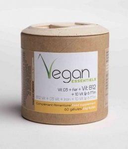 Multi vitamines Vit B12+ Vit D3 + Fer et 10 Vitamines + 6 Mineraux - 60 gélules Vegan Essentiels by Argalys de la marque Vegan Essentiel image 0 produit