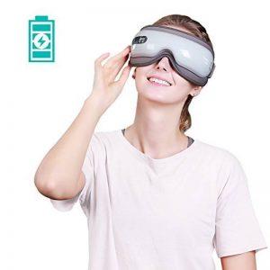 Naipo Masseur des Yeux Appareil de Massage Oculaire pour Relaxation des Yeux et Anti Migraine Anti Cerveau avec Musique Compression d'Air Fonction de Chauffage Domicile Voiture de la marque Naipo image 0 produit