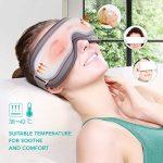 Naipo Masseur des Yeux Appareil de Massage Oculaire pour Relaxation des Yeux et Anti Migraine Anti Cerveau avec Musique Compression d'Air Fonction de Chauffage Domicile Voiture de la marque Naipo image 2 produit