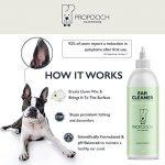 Nettoyant d'oreilles pour chiens Pro Pooch (250 ML)   Il arrête les démangeaisons, les hochements de tête et les odeurs   Recommandé par les vétérinaires   Pour les chiens avec acariens, levures, déma de la marque image 3 produit