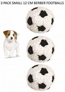 * Nouveau * Lot de 3Dog Life Petite 12cm berbère de football en peluche Chien Jouet pour chiot de la marque DogLife image 0 produit