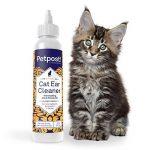 Petpost   Gouttes nettoyantes d'oreilles pour chat - le meilleur remède anti-acariens - gouttes à l'huile de noix de coco - sans alcool ni médicaments - 8 once. de la marque Petpost image 1 produit