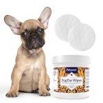 Petpost | Lingettes nettoyantes pour oreilles de chiens - 100 compresses ultra douces à l'huile de noix de coco et aloe - Traitement pour infection des oreilles et acariens de la marque Petpost image 1 produit