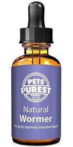 Pets Purest Vermifuges anti-parasitaire 100% naturel pour les chiens, les chats, la volaille, les oiseaux, les lapins et les animaux domestiques. Enlève efficacement tous les vers, ascaris, ankylostome, trichocéphale et ténia. 1-2 ans d'approvisionnement image 0 produit