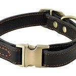 Rantow Collier réglable en cuir pour chiens, col de 30 cm à 43 cm et 2 cm de large, collier fait main pour chiens moyens / petits (noir) de la marque Rantow image 1 produit