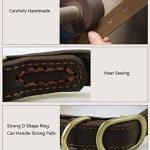 Rantow Collier réglable en cuir pour chiens, col de 30 cm à 43 cm et 2 cm de large, collier fait main pour chiens moyens / petits (noir) de la marque Rantow image 2 produit