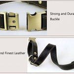 Rantow Collier réglable en cuir pour chiens, col de 30 cm à 43 cm et 2 cm de large, collier fait main pour chiens moyens / petits (noir) de la marque Rantow image 3 produit