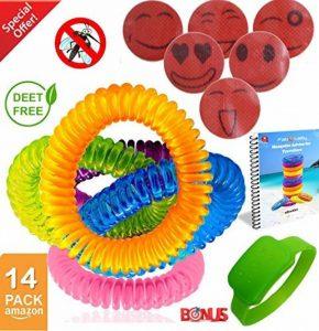 Speical Offre anti-moustiques Bracelets jusqu'à 300 hours-botanical - Lot de 14 - Tous les naturel, sans DEET et imperméable Bandes pour adultes et enfants de la marque FabQuality image 0 produit