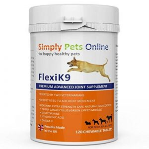 Supplément articulaire FlexiK9 pour chiens Glucosamine et Green Shell (120 comprimés à croquer) de la marque Simply Pets Online image 0 produit