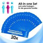 Yoga Medic Nez douche Set + 20x Sel de nettoyage–Nez Nez chasse avec 3embouts cas de rhume ou eau Allergies de la marque JRSK Comercio image 5 produit