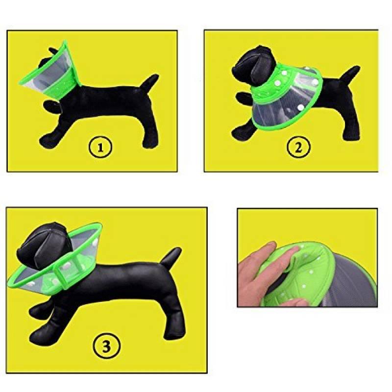 Collerette et variations Yunt-collerette-chien-chat-collerette-a-pois-de-protection-couleur-aleatoire-taille-l-de-la-marque-yunt-image-4